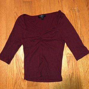 Burgundy Top from Topshop (small)